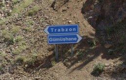 Trabzon Gümüşhane yolunda çalışma