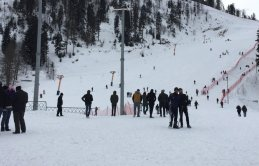 Artvin'de kayak merkezi doldu taştı