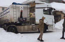 Trabzon'dan kömür götürdü yolda kaldı