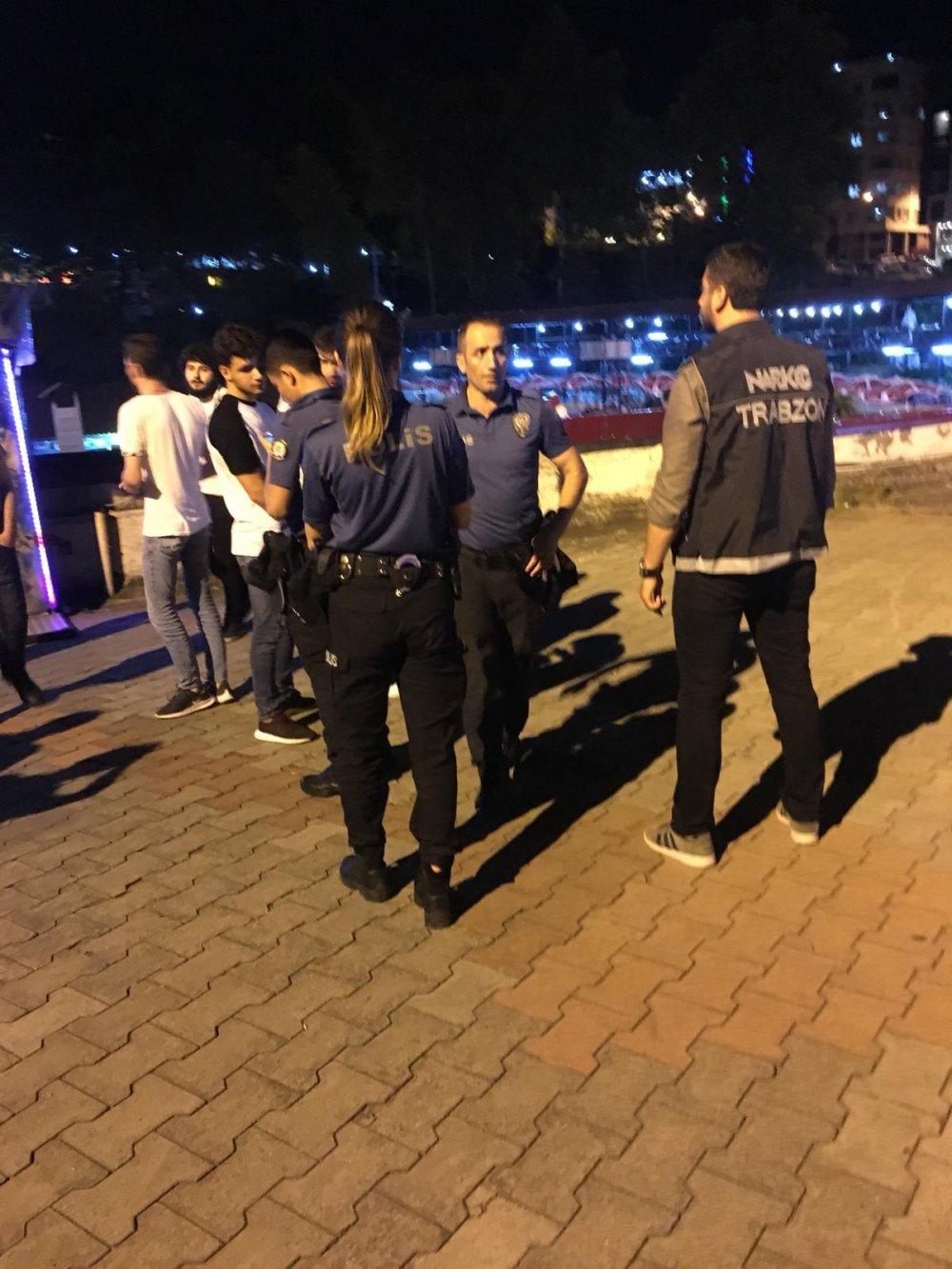 Trabzon'da gece operasyonu