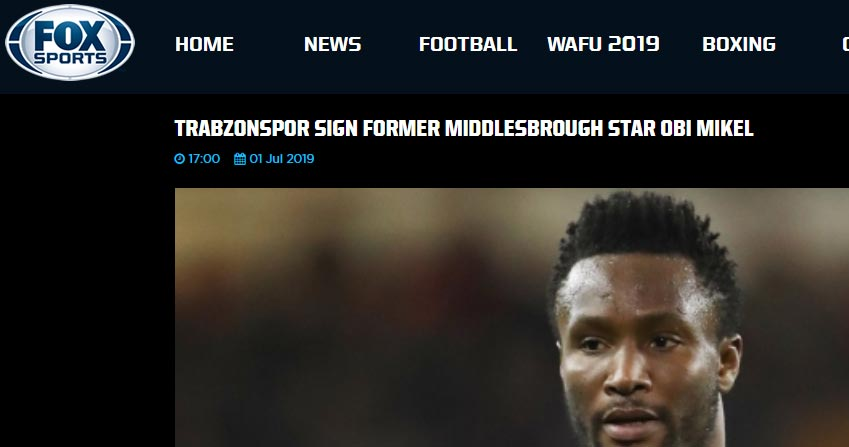 Trabzonspor'un Mikel transferi dünya basınında!