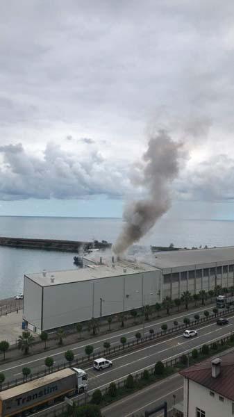Giresun limanında patlama