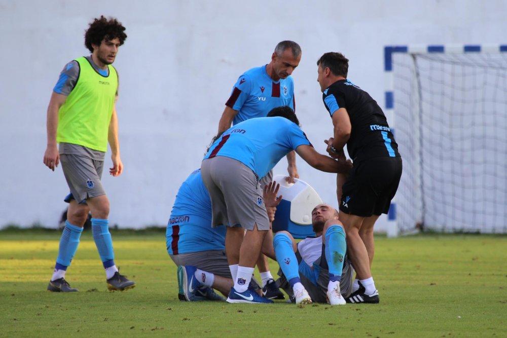 Trabzonspor antrenmanında korkutan sakatlık!