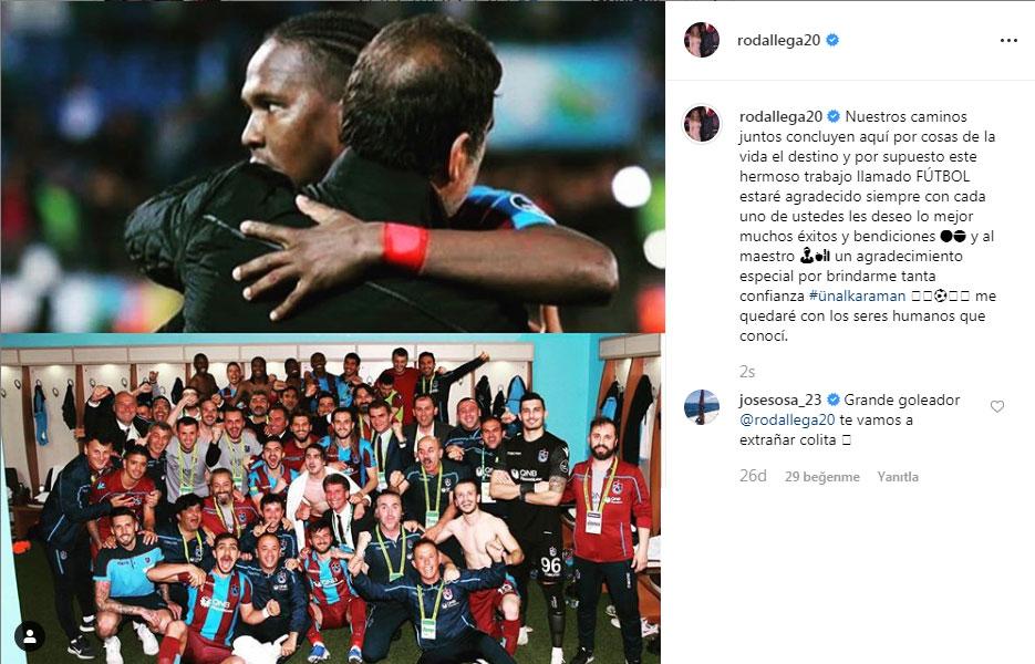 Hugo Rodallega'dan Trabzonspor mesajı!