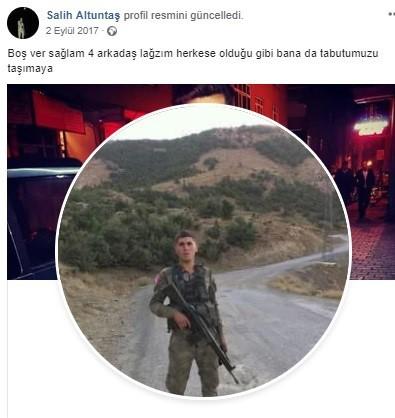 Ordulu Uzman Çavuş Salih Altuntaş'tan acı haber