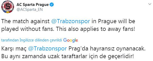 Sparta Prag - Trabzonspor maçına seyirci alınacak mı?