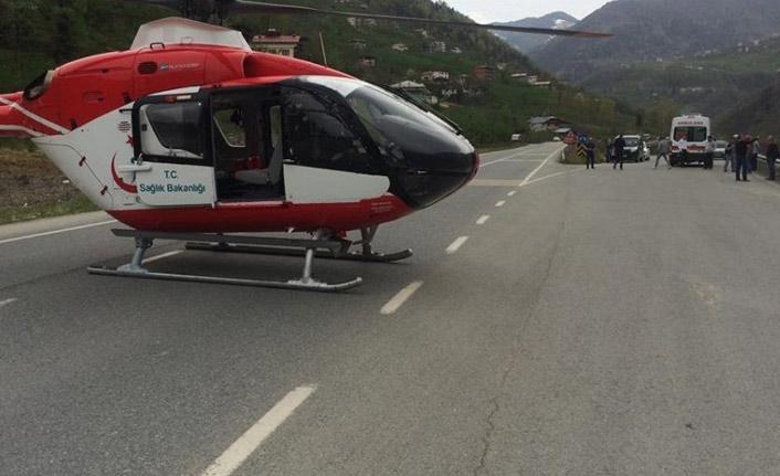 Trabzon'daki hava ambulansının yoğun mesaisi | Trabzon Haberleri