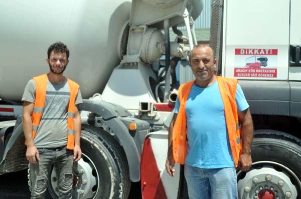 Trabzon'da şantiye çalışanlarının duyarlılığı