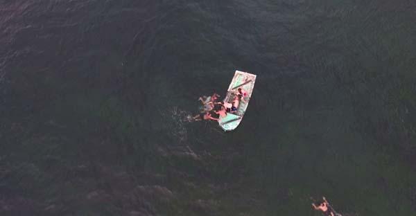 Denizde boğulan şahsın yeri, 'drone' ile tespit edildi