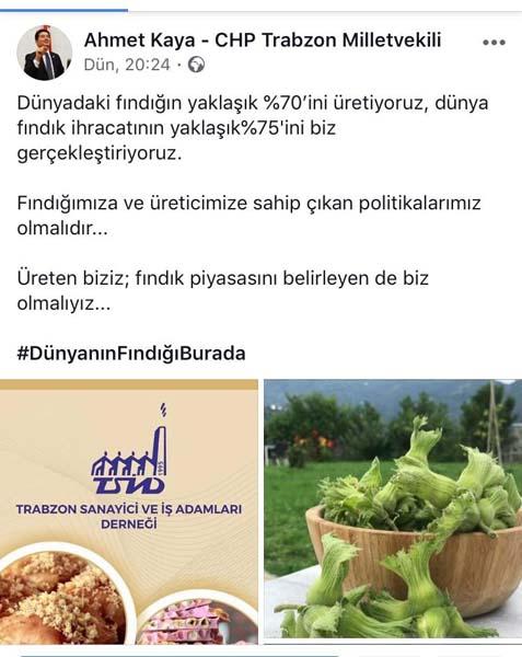 """Trabzon'un 6 milletvekili """"dünyanın fındığı burada"""" sloganında buluştu"""