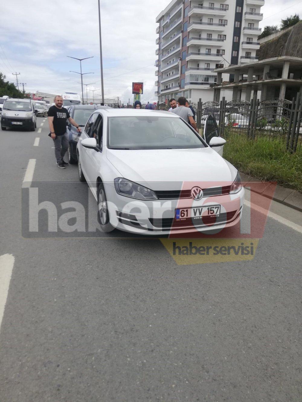 Trabzon'da zincirleme kaza – 4 araç birbirine girdi