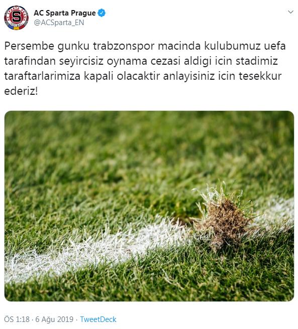 Sparta Prag - Trabzonspor maçı ne zaman, saat kaçta, hangi kanalda?