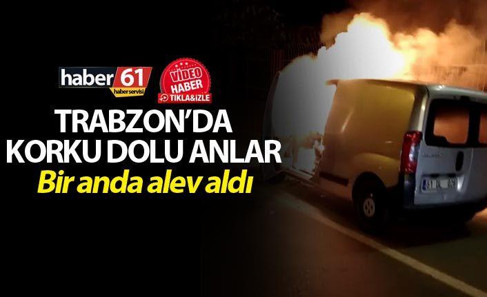 Trabzon'da bir araç yangını daha - Etrafındakileri de yaktı