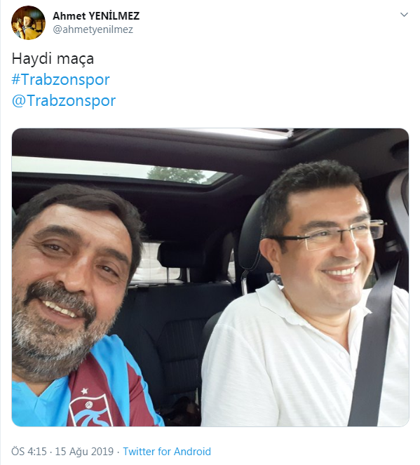 Ünlü oyuncu Ahmet Yenilmez Trabzonspor maçında!