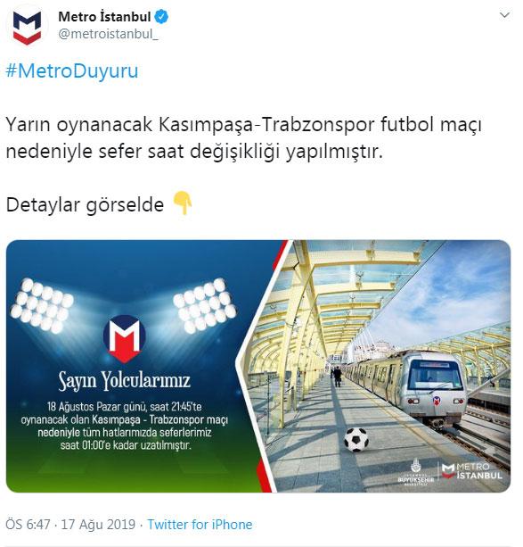 Kasımpaşa - Trabzonspor maçına gidecekler dikkat!