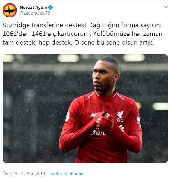Nevzat Aydın'dan Trabzonspor'a destek!
