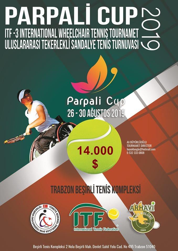 Trabzon'da Uluslararası Tekerlekli Sandalye Tenis Turnuvası