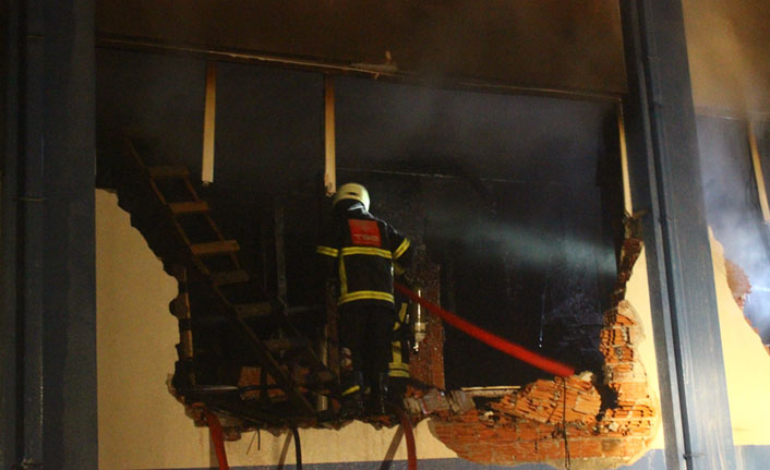 Fındık fabrikasında yangın!