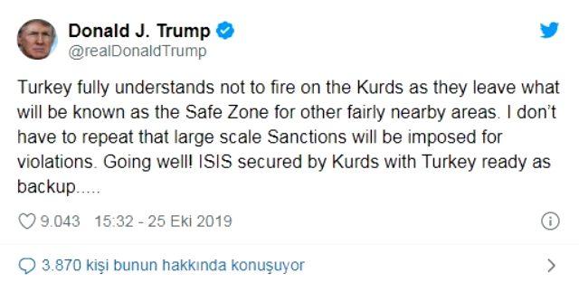 Trump yine Türkiye'yi tehdit etti