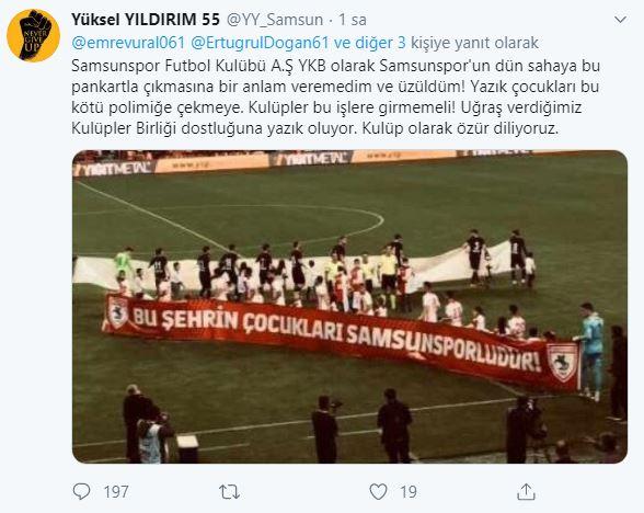 Samsunspor'dan Trabzonspor özrü!