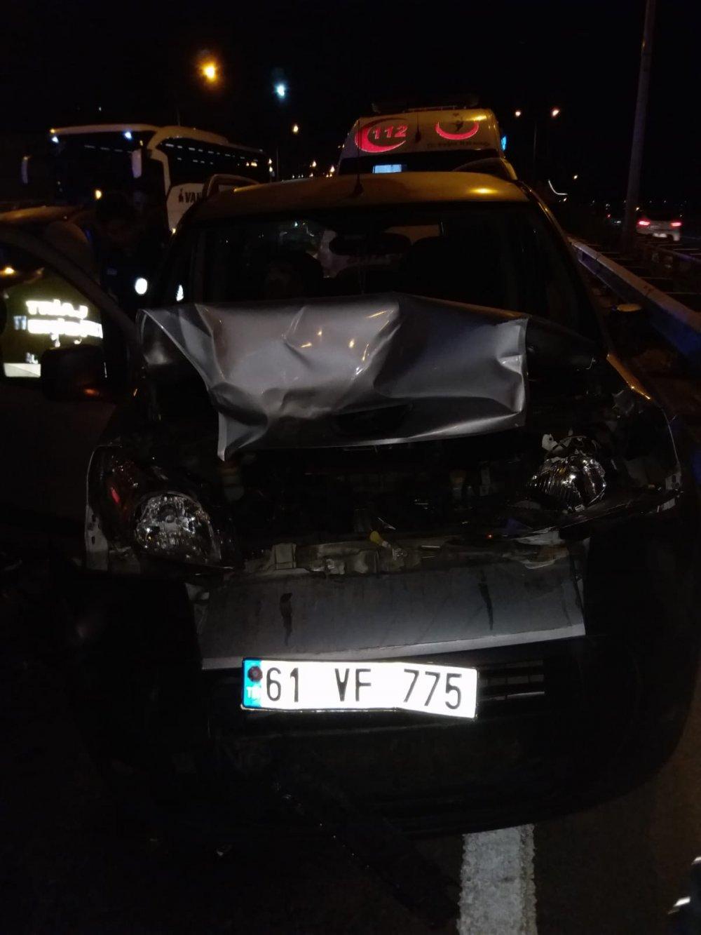 Trabzon'da kaza 2 yaralı