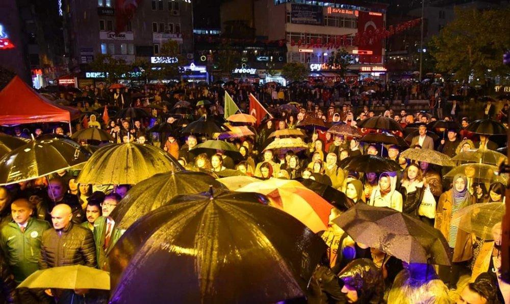 Giresun'da ''Cumhuriyet' yürüyüşü