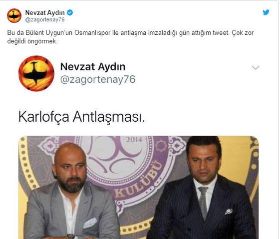 Nevzat Aydın'dan Bülent Uygun'a salvo