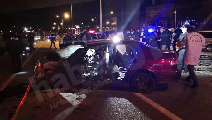 Trabzon'da feci kaza! 1 Ölü 4 yaralı