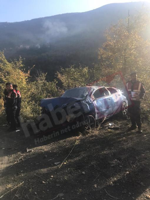 Trabzon'da iş çıkışı acı kaza! Uçuruma yuvarlandı