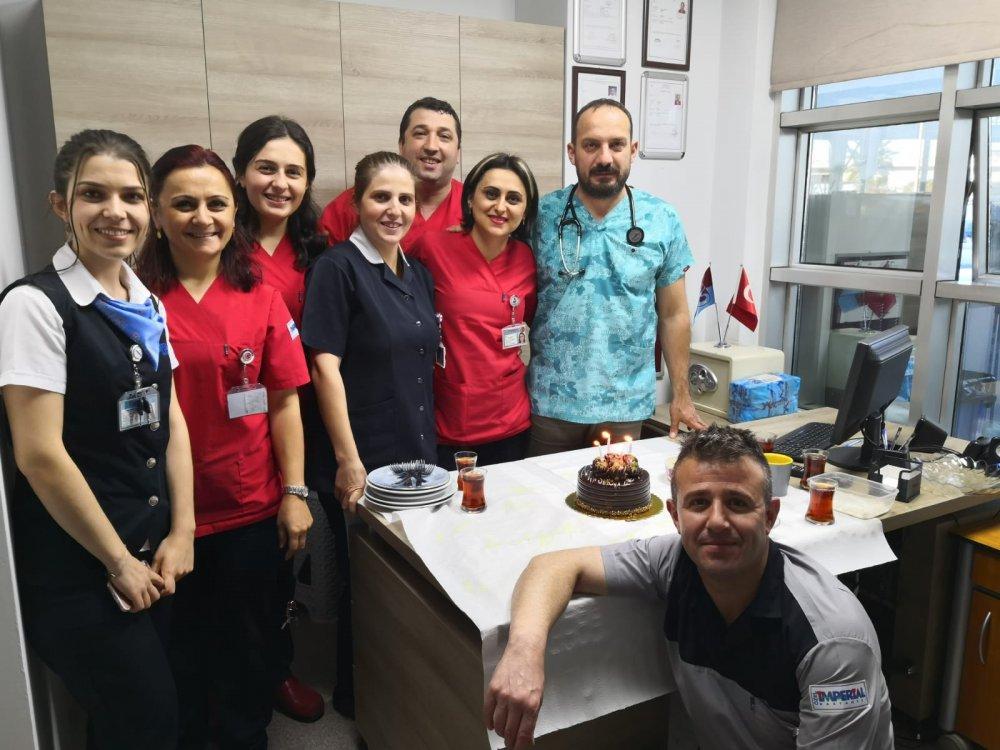 İmperial Hastanesinde sürpriz doğum günü