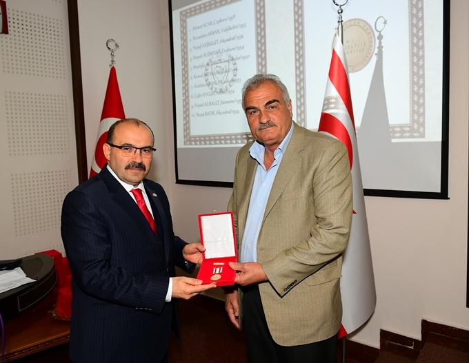 Trabzon'da Kıbrıs Gazileri için Madalya ve Berat Tevcih Töreni