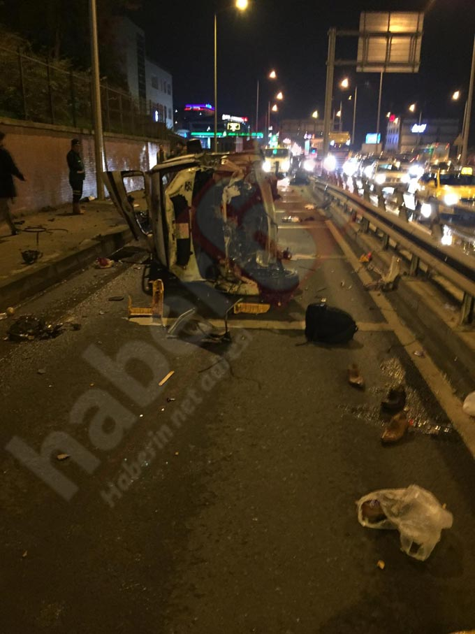 Trabzon'da kaza - Bir anda bu hale geldi