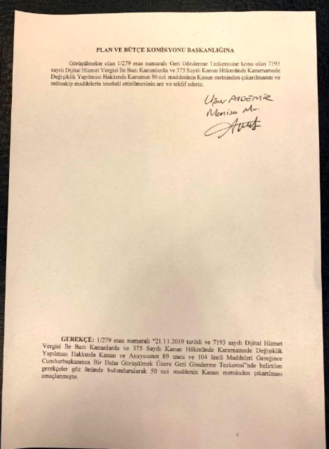 Erdoğan'ın veto ettiği düzenlemede yeni gelişme
