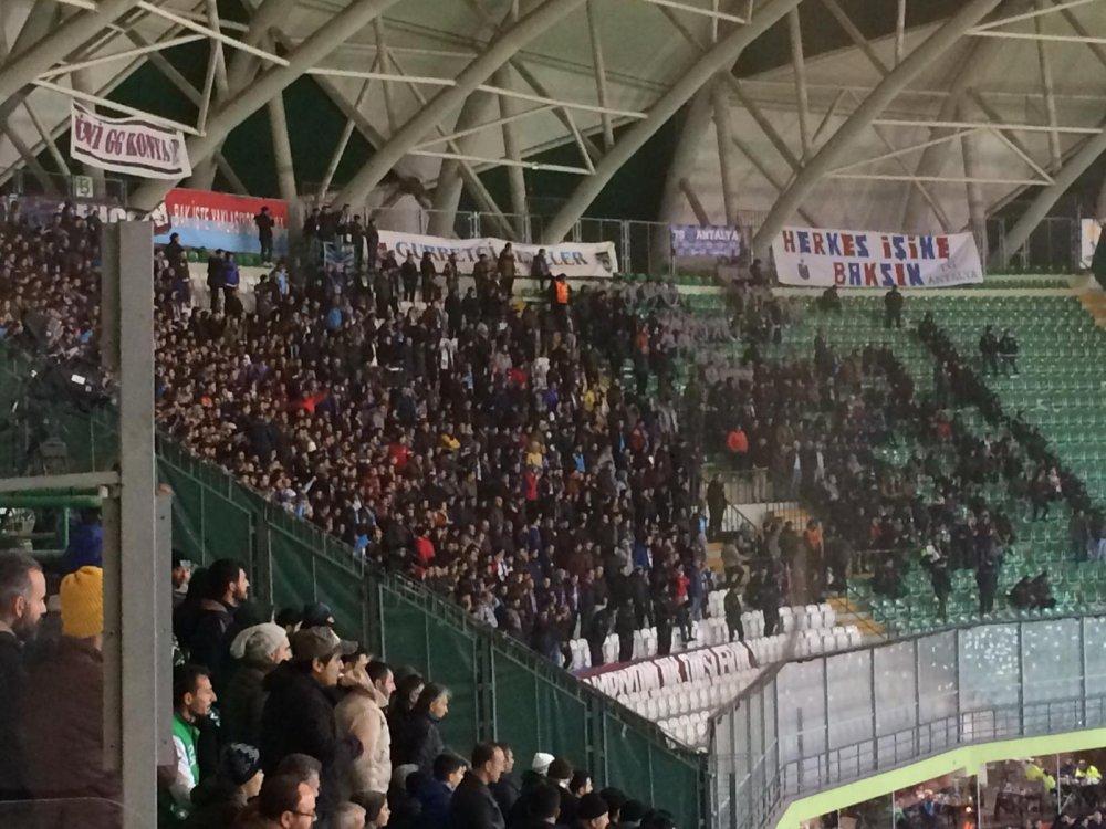 Trabzonspor taraftarı yine yerini aldı