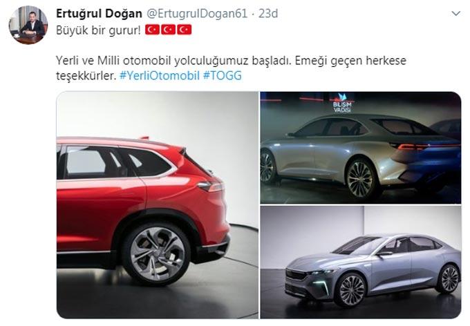 Trabzonspor yöneticilerinden yerli otomobil mesajı