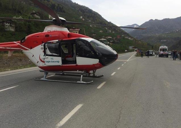 Helikopter ambulans 2019 yılında 255 hasta için havalandı