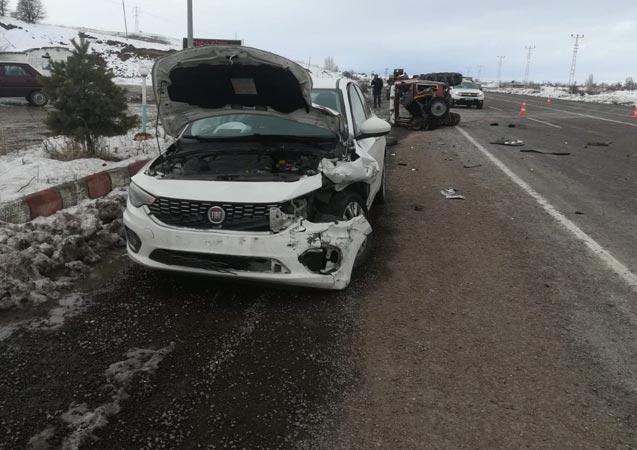 Gölova'da trafik kazası