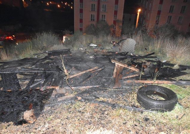 Sinop'ta kulübe yangını