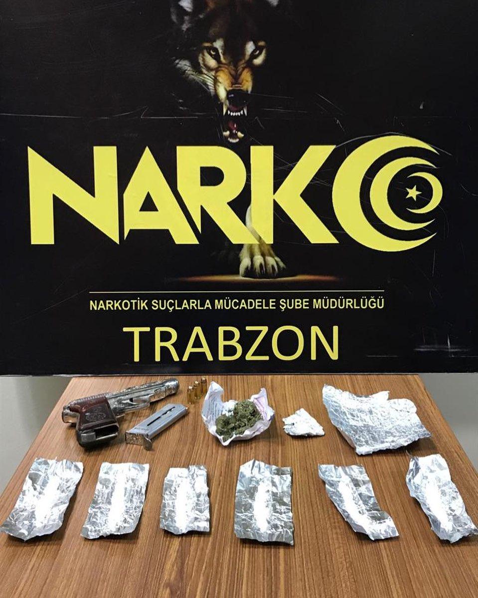 Trabzon'da iki kişi takibe alındı – Bakın neler yakalandı