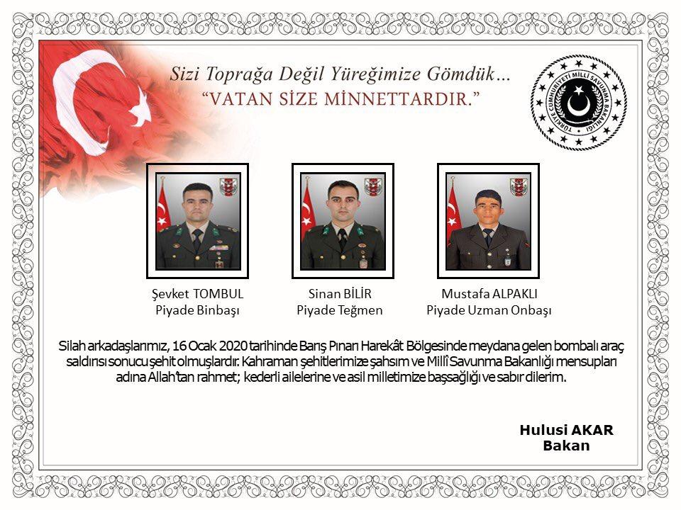 Acı Haber: 3 asker şehit