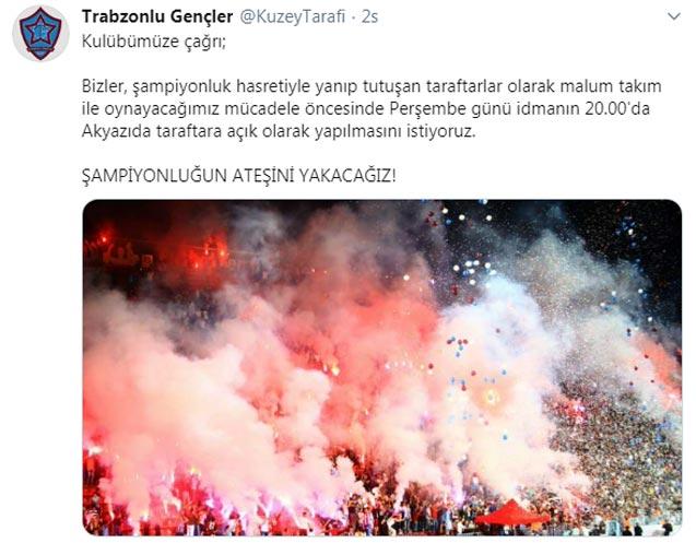 Taraftarlardan Trabzonspor'a çağrı