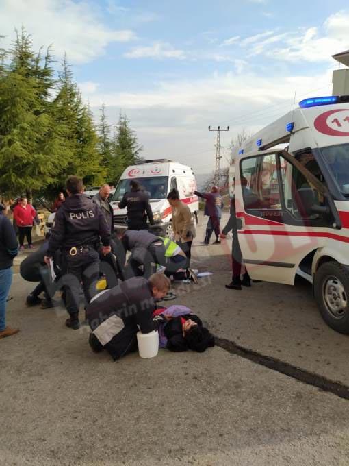 Trabzon'da facianın eşiğinden dönüldü! Freni patlayan dolmuş uçuruma yöneldi!