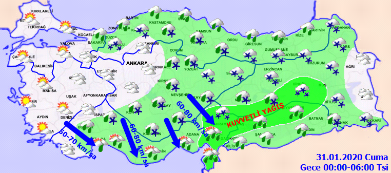 Meteoroloji uyardı - Doğu Karadeniz'e kar geliyor