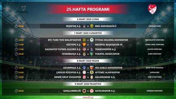 Trabzonspor'un Beşiktaş ve Sivas maçlarının programı belli oldu