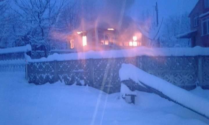 Bir ev yangında kül oldu
