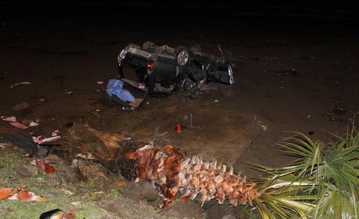 Araç sahile uçtu: 2 ölü 2 yaralı