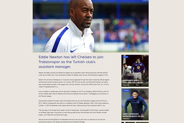 Chelsea'den Eddie Newton açıklaması