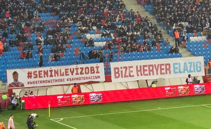 Trabzonspor taraftaralrından Obi Mikel'e destek