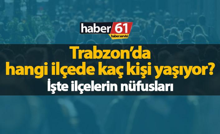 Trabzon'da ilçelerin nüfusları - 2019
