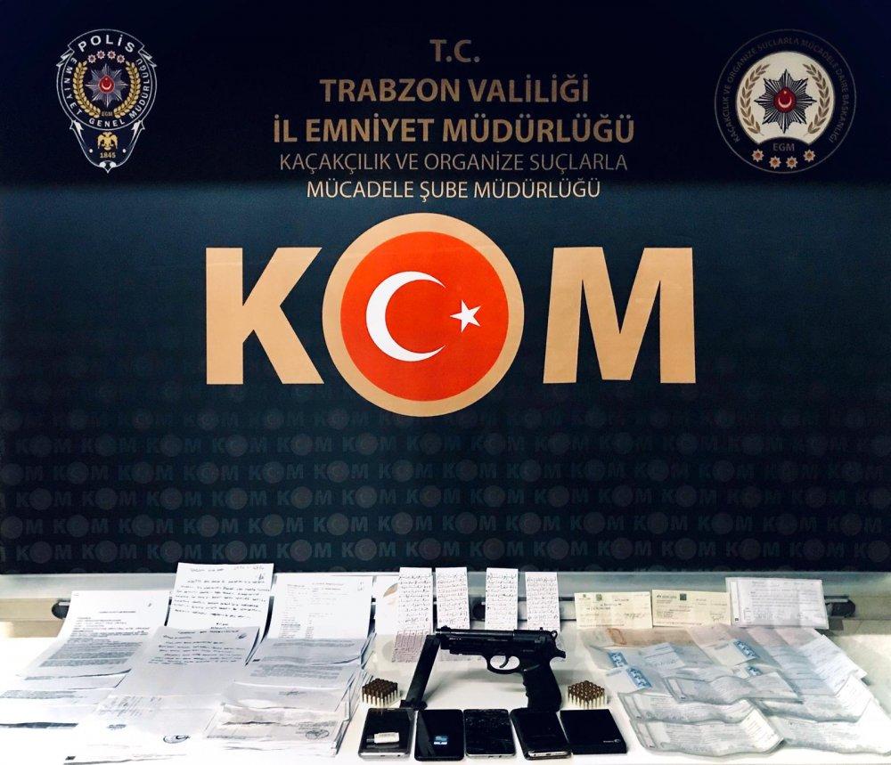 Trabzon'da operasyon - Tefecilik, tehdit, yağma ve şantaj…